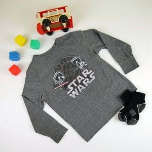 Star Wars Long Sleeve Gray Shirt 5T